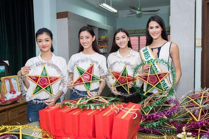 Hoa Hậu Quốc Tế Mariem Velazco cùng Top 3 Miss World Vietnam Lương Thùy Linh – Tường San – Nguyễn Hà Kiều Loan từ thiện trung thu