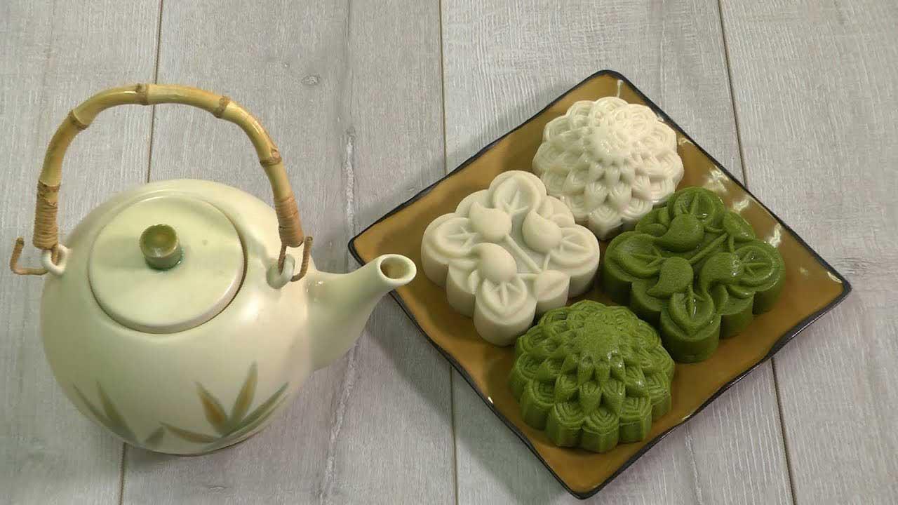 cách làm bánh dẻo trà xanh